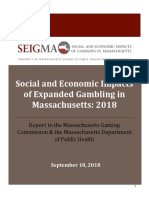 Social and Economic Impacts of Expanded Gambling in Massachusetts (SEIGMA) 2018 report