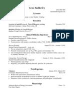 pta resume rough draft