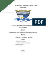 Ensayo Fundamentos en El Proceso Del Dseño Del Software