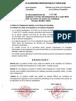 Arrêté Complémentaire Résidanat ORAN123
