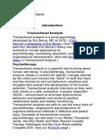 Transactional Analysis Notes Anita