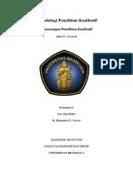 Revisi. Kelompok 6. Perancangan Penelitian Kualitatif