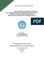 68191295 Laporan Hasil Penelitian Tindakan Sekolah Motivasi Guru