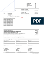 Subcontractor Change Order