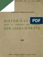 Historia de Chile bajo el gobierno del General don Joaquín Prieto