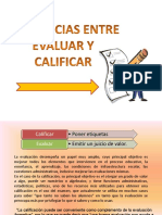 Diferencia Entre Evaluar y Calificar