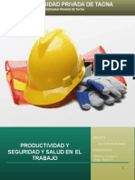 Productividad en Seguridad y salud ocupacional