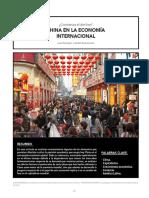 CHINA EN LA ECONOMÍA  INTERNACIONAL