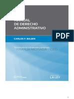 Manual de Derecho Administrativo. 3º edicion. 2015. Carlos Balbin-.pdf