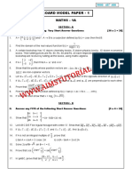 Mathematics 1a Model Papers