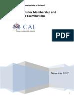 Examinations Regulations 2018 Mcai Fcai