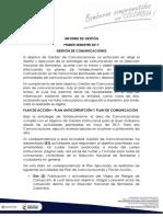 Informe de Gestion Comunicaciones i Sem 2017