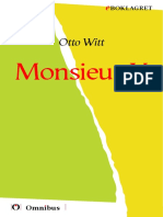Otto Witt - Monsieur X [ prosa ] [1a tryckta utgåva 1914, Senaste tryckta utgåva =, 154 s. ]