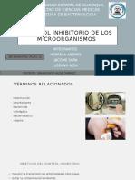 Control Inhibitorio de Los Microorganismos