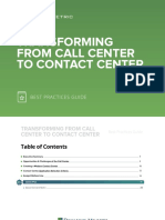 Transforming From Call Center to Contact Center Best Practices Guide