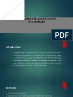 Ley de Obra Publica Del Estado de Queretaro