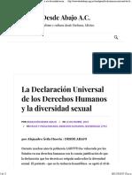 La Declaración Universal de Los Derechos Humanos y la diversidad sexual