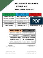 Daftar Kelompok Belajar Kelas IV