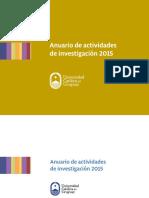 Anuario de Investigacion 2015 Español