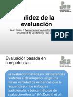 validez de la evaluación