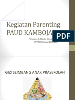 Kegiatan Parenting PAUD KAMBOJA