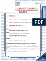 PESO UNITARIO Agregado Grueso