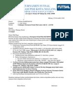 Surat Undangan Turnamen Futsal Anatar Smp