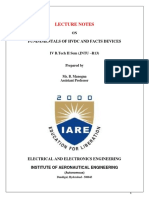 IARE HVDC Lecture Notes