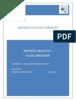 Reporte Practica I- Flujo Uniforme