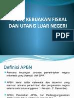 Apbn, Kebijakan Fiskal Dan Uln