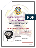 Physics Investigatory Project XII Tangent Galvanometer
