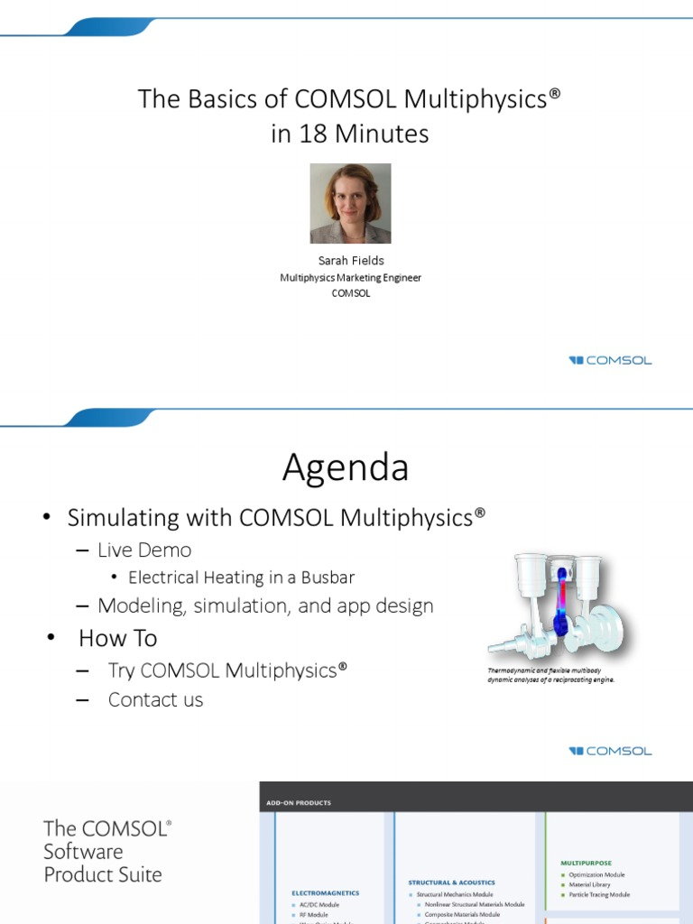 1204 - The Basics of COMSOL Multiphysics® in 18 Minutes