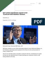 Bill Gates expresses regret over 'Control+Alt+Delete' button _ INQUIRER.net Mobile