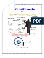 MTC Global Biography of Indian Management Educators, Volume-I, Feb 2016