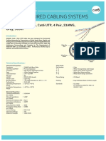 Cat6 UTP Solid Cable Common Datasheet