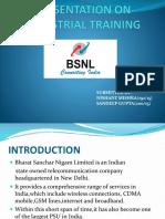 Presentation on Industrial Training Bsnl