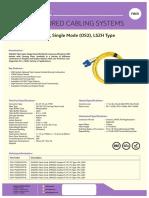 Fiber SM Patch Cord Datasheet
