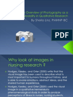 Photography as a Creative Modality in Qualitative Research