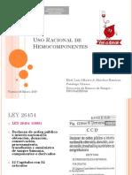 Expo Uso Racional Hemocomponentes