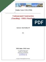 Underground Construction Tunelling