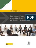 Guía Técnica -Información preventiva a la población en situaciones de riesgo y emergencia - DGPCE