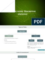 Course Notes Descriptive Statistics (1)