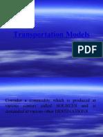 Transportation Models Lect 2