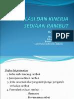 Presentasi UI - Formulasi Dan Kinerja Sediaan Rambut