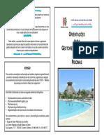 Orientações para gestores e operadores de piscinas.