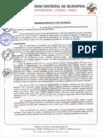 Municipalidad de La Convencion OM 006 2015