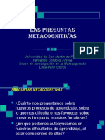 Las Preguntas Metacognitivas