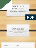 Algebra of Functions