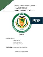 Informe Frio Caliente