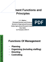 Functions of Management 1 Oct 2010